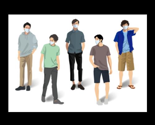 布マスク通販日本製メンズまとめ!おしゃれで通勤にも使える